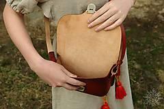Kabelky - Kožená kabelka Mirina červená - 7947016_