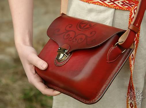 Kožená kabelka Mirina červená