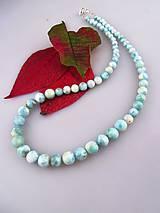 Náhrdelníky - larimar náhrdelník, zapínanie striebro Ag925/1000 - 7948978_