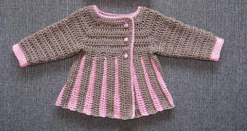 ae7c33506982 Háčkovaný svetrík pre dievčatko   Krakenik - SAShE.sk - Handmade ...
