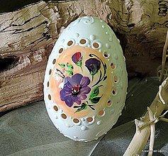 Dekorácie - husacia kraslica s ornamentom - 7949733_
