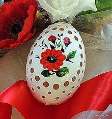 Dekorácie - Husacia kraslica - madeirová  maľovaná - 7949746_