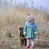 Detské doplnky - Bavlnená šatka...recy, modrá - 7949043_