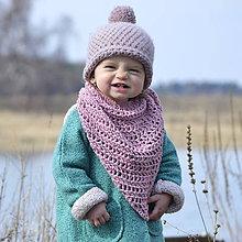 Detské doplnky - Bavlnená šatka..staroružová - 7949008_