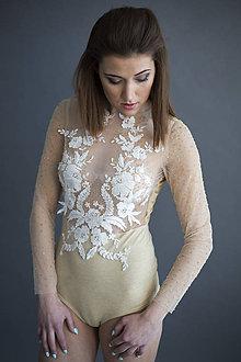Iné oblečenie - Body s ručne našitými korálikmi - 7947318_