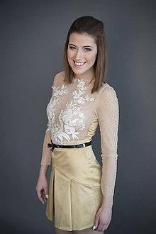Sukne - Zlatá sukňa - 7947385_
