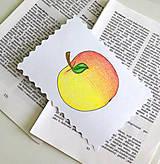 Papiernictvo - Minipohľadnica - jablko - 7946460_