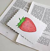 Papiernictvo - Minipohľadnica - jahoda - 7946462_