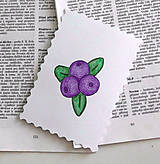 Papiernictvo - Minipohľadnica - čučoriedky - 7946467_