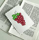 Papiernictvo - Minipohľadnica - hrozno - 7946469_