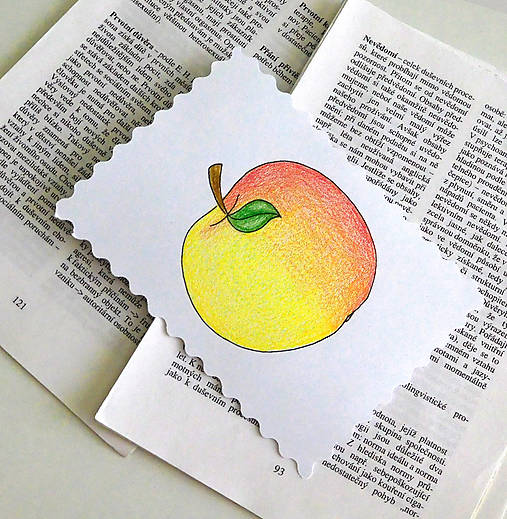 Minipohľadnica - jablko
