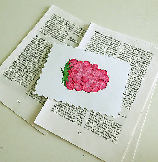Minipohľadnica - malina