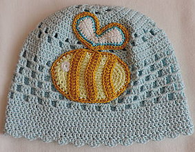 Detské čiapky - Čiapočka s včielkou - 7952127_