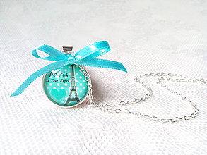 Náhrdelníky - La Tour Eiffel necklace - 7952529_