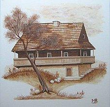 """Obrázky - Obrázok """"Slovenská drevenica III"""" - 7952872_"""