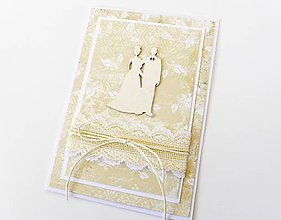 Papiernictvo - pohľadnica svadobná - 7950474_