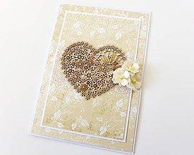 Papiernictvo - pohľadnica svadobná - 7950476_