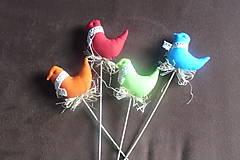 Dekorácie - Vtáčatká v hniezde - zápich - 7953535_