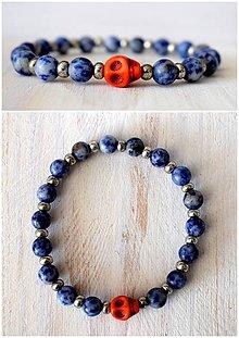 Šperky - Sodalite/skull - 7950831_
