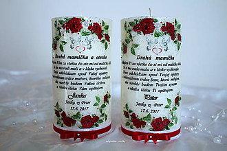 Svietidlá a sviečky - Poďakovanie rodičom, svadobná - 7952790_