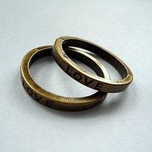 Komponenty - Kov.krúžok 21mm-1ks (LOVE-st.bronz) - 7953787_