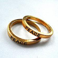 Komponenty - Kov.krúžok 21mm-1ks (PEACE-st.zlatá) - 7953846_