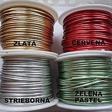 Galantéria - Šnúrka z EKO kože 1,5mm-1m (červená) - 7954218_