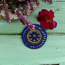 Odznaky/Brošne - Mandala n.3 - vyšívaná brož - 7951326_