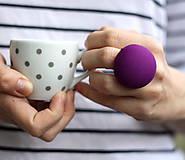 Prstene - Mushroom button ring - oversize prsteň Orgován - 7952204_