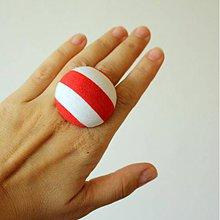 Prstene - Mushroom button ring - oversize prsteň Námorníčka - 7952004_