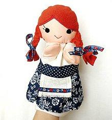 Hračky - Maňuška folk dievčinka - Dorka - 7950900_