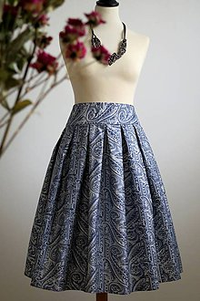 Sukne - skladaná sukňa s nadýchom orientu - 7952588_