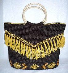 Kabelky - Hnedá taška so strapcami - 7952037_