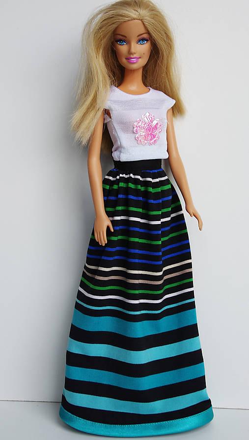 Pásikavá sukňa pre Barbie   TrishaFate - SAShE.sk - Handmade Hračky a979fd9964b