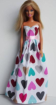Hračky - Letné srdiečkové šaty pre Barbie - 7954211  d07365109da