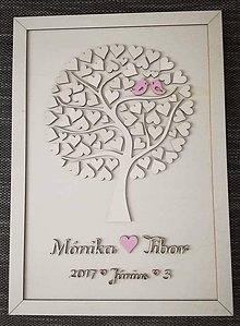 """Dekorácie - Svadobný strom """"Birds of love"""" - kniha hostí - maďarsky - 7952389_"""