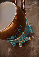 Nádoby - Vzácna bytosť - medená - šálka na kávu s menom - 7952080_