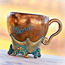 Nádoby - Vzácna bytosť - šálka na kávu s menom - 7951963_