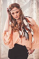 Ozdoby do vlasov - Melírovaná multifunkčná pletená čelenka - 7951177_