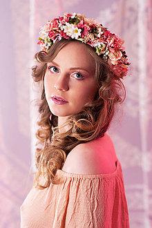 Ozdoby do vlasov - Romantický kvetinový venček - 7951384_