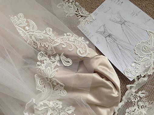 Svadobné šaty navrhované a šité na mieru
