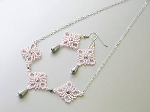 """Sady šperkov - Šitý set náhrdelníka a náušníc """"Ružový sen"""" - 7952637_"""