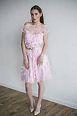 Šaty - Ružové šaty s lupienkami - zľava - 7953902_