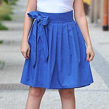 Sukne - Zavinovacia bodkovaná sukňa so sklady - 7951032_