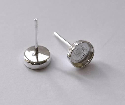 Puzety 6 mm lôžka, striebro Ag 925 - 1 pár