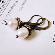 Náušnice - Freshwater Pearls Earrings / Náušnice s riečnymi perlami - 7954536_