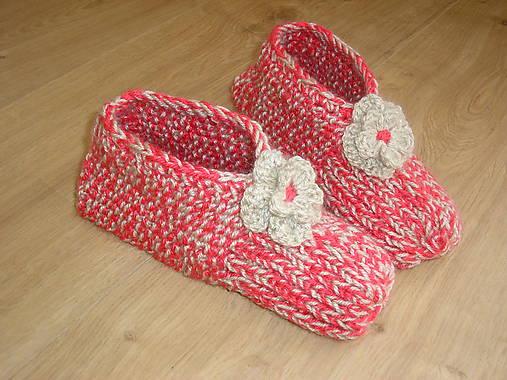 6c5359f8f Pletené papuče / zdobenka - SAShE.sk - Handmade Obuv
