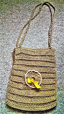 Kabelky - Taška z jutového špagátu - 7957335_