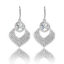 Náušnice - svadobné náušnice NEHA (Crystal - Ag 925) - 7958075_