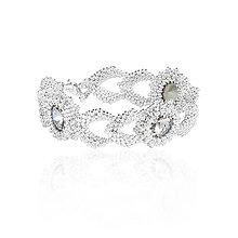 Náramky - svadobný náramok NEHA (crystal - Ag 925) - 7958139_